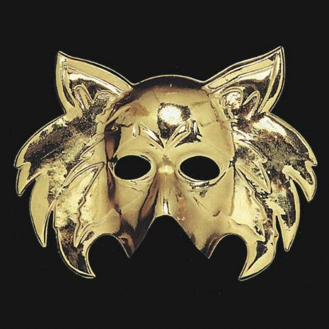 Mask Face Golden Cat shape Pussy Pet Animal Feline Witch